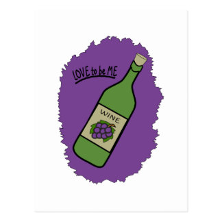 WINE BOTTLE - LOVE TO BE ME POST CARDS