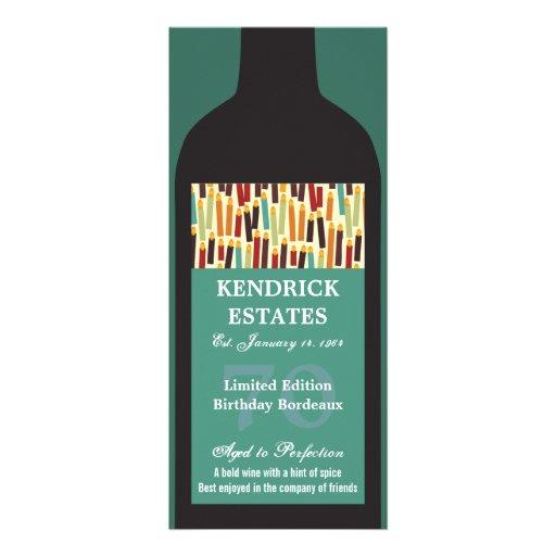 Wine Bottle Party Invitation