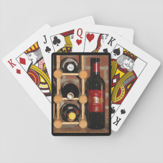 Wine Bottle Rack Playing Cards