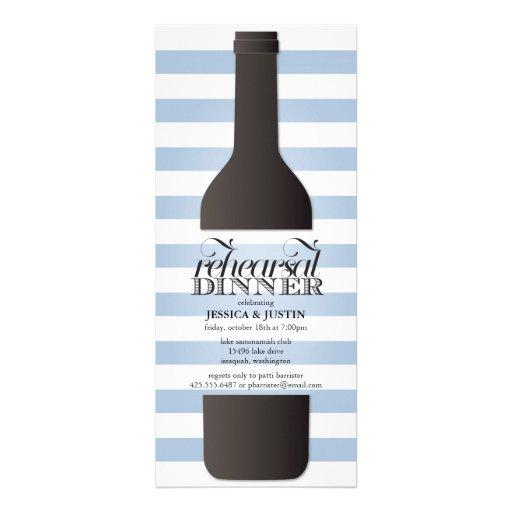 Wine Bottle Rehearsal Dinner Invitation