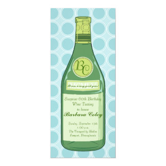 """Wine Bottle Rings Party & Shower Invitation 4"""" X 9.25"""" Invitation Card"""