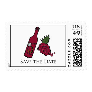 Wine Bottle Save the Date Stamp