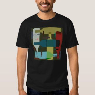 Abstract Wine Bottle T-Shirt
