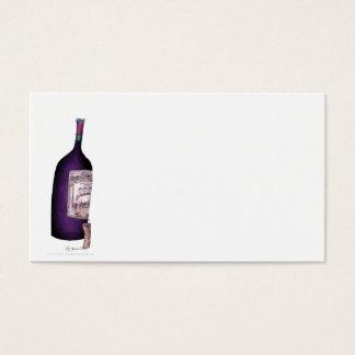 wine bottle, tony fernandes business card