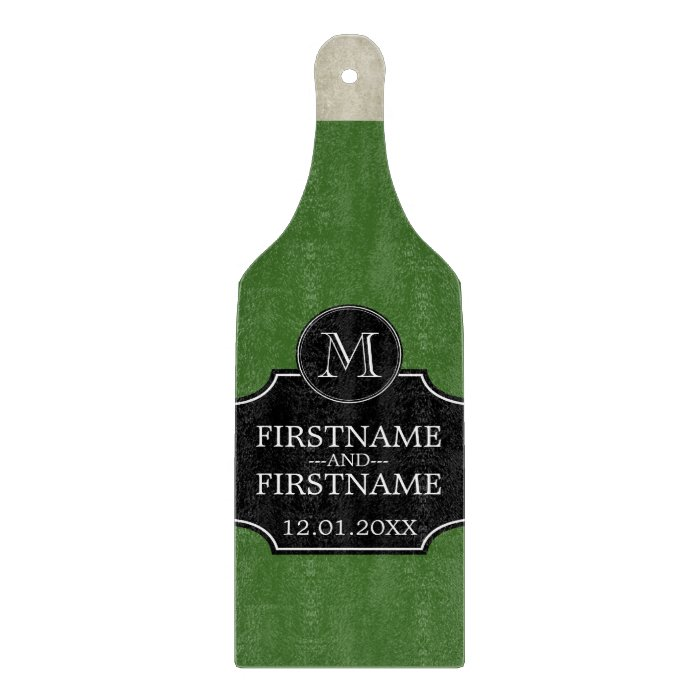 Wine bottle with bride and groom name anniversary cutting for How to cut the bottom off a wine bottle easily