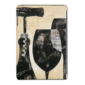 Wine Bottle with Two Glasses iPad Mini Cover
