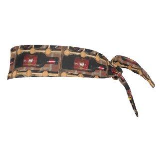 Wine Bottles Abstract Tie Headband