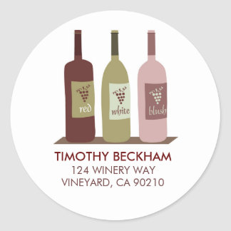 Wine Bottles Address Labels