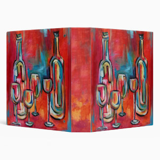 Wine Bottles and Glasses Pairing Tasting Notes 3 Ring Binder