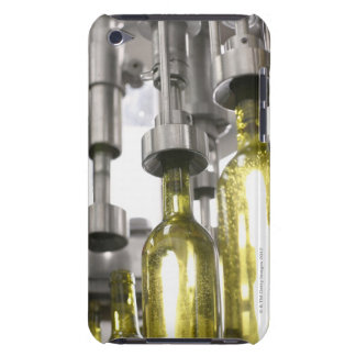 wine bottles being filled with wine at factory barely there iPod case