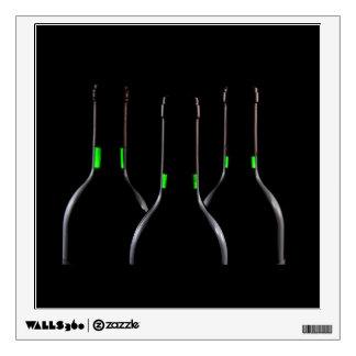 Wine Bottles Black Wall Decal