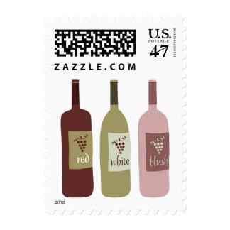 Wine Bottles Custom Postage Stamps