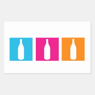 Wine bottles for celebration rectangular sticker
