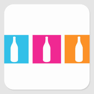 Wine bottles for celebration square sticker