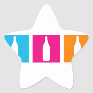 Wine bottles for celebration star sticker