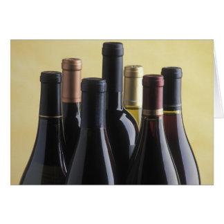 Wine Bottles Greeting Card