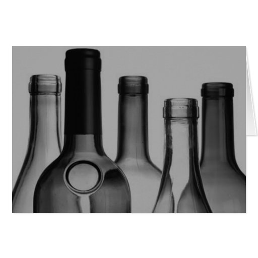 Wine Bottles Greeting Cards