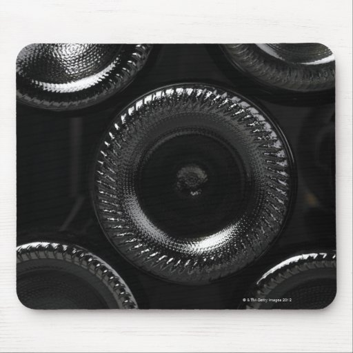 Wine bottles in a wine cellar. Only the bottom Mousepads