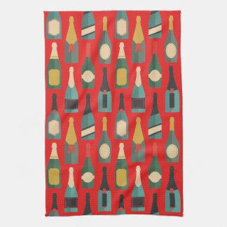 Wine Bottles Kitchen Towel