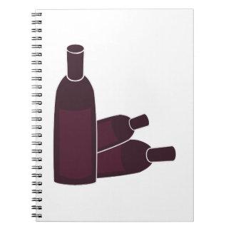Wine Bottles Spiral Notebook