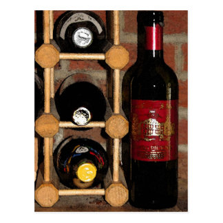 Wine Bottles Postcard