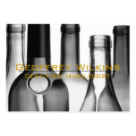 Wine Bottles Professional Business Cards Pack Of Chubby Business Cards
