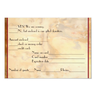 Wine Bottles RSVP reply 3.5x5 Paper Invitation Card
