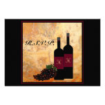 Wine Bottles RSVP reply Personalized Announcement