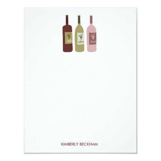 Wine Bottles Stationery Note Cards