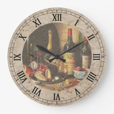 Wine Bottles Wall Clock