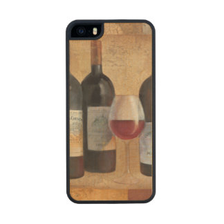 Wine Bottles with Glass Carved® Maple iPhone 5 Case