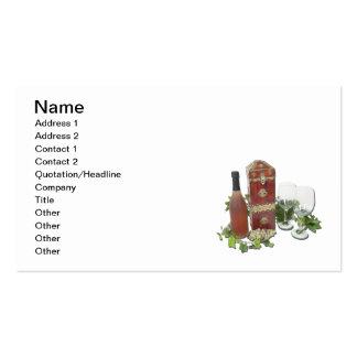 Wine Box Bottle Glasses Ivy Business Card