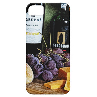 Wine Bread Cheese and Grapes Still Life iPhone SE/5/5s Case