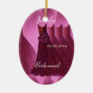 WINE Bridesmaid Thank You Wedding Ceramic Ornament
