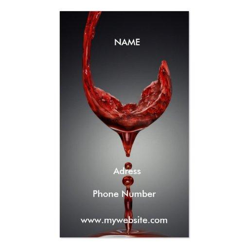 Wine Business Card Zazzle