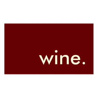 wine. Double-Sided standard business cards (Pack of 100)