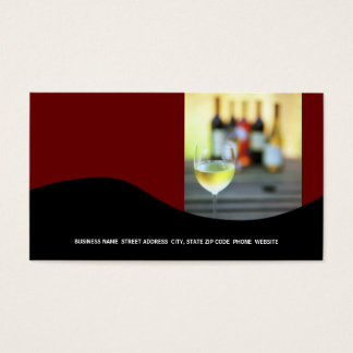 Wine Business Card {Red}