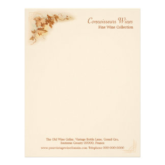 Wine business letterhead