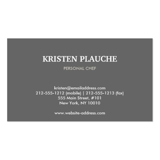 WINE CAFE BAR No. 4 Business Card (back side)