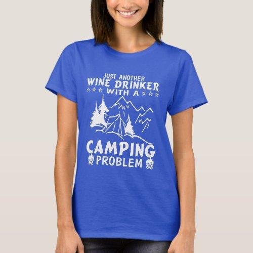 Wine  Camping T_Shirt