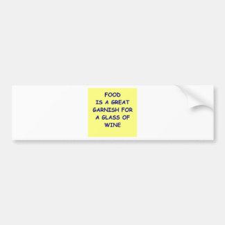 wine car bumper sticker