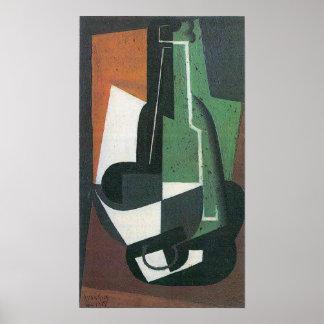 Wine Carafe Bottle by Juan Gris, Vintage Cubism Poster