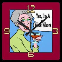 Wine  Cartoon wall clocks