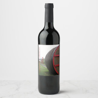 Wine Cask Design Wine Label