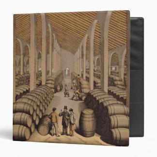 Wine Cellar at Jerez de la Frontera 3 Ring Binder