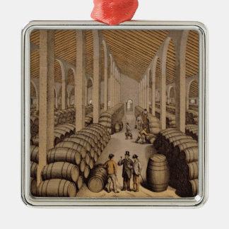 Wine Cellar at Jerez de la Frontera Metal Ornament