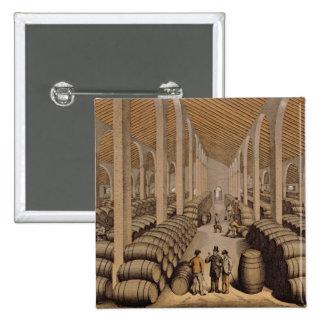 Wine Cellar at Jerez de la Frontera Pinback Button