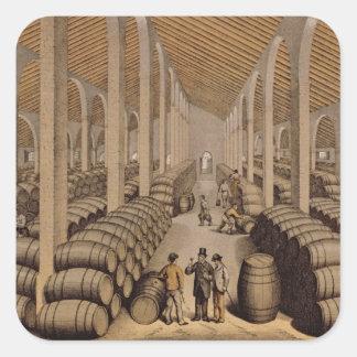 Wine Cellar at Jerez de la Frontera Square Sticker