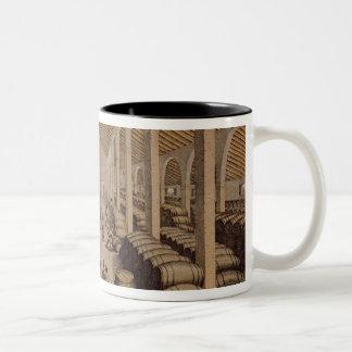 Wine Cellar at Jerez de la Frontera Two-Tone Coffee Mug