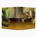 Wine Cellar Barrel Business Binder
